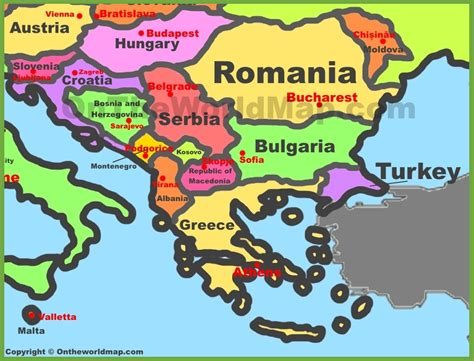 balkans map balkan countries map