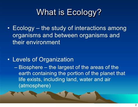 ecology the biosphere