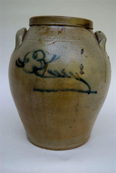 Top 28 Antique Jars Large Antique American Stoneware One Gallon Southern Ovoid Salt Glazed Storage Jar Broken