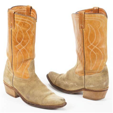 vintage acme brown suede leather snip toe cowboy western