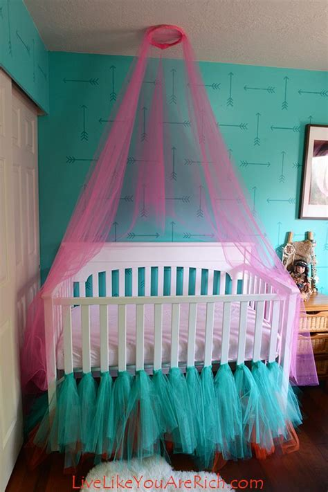 how to make a canopy how to make a crib canopy out of tulle hometalk