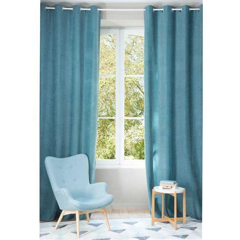 cobalt blue curtains chenille cobalt blue eyelet curtain 140 x 300 cm maisons