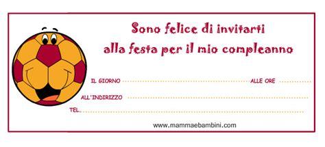 ci inviti alla tua festa testo biglietti inviti festa pallone con i colori della roma