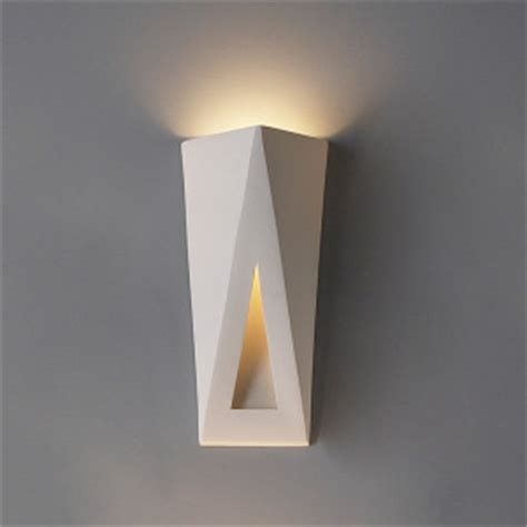 Interior Wall Sconces 8 Quot Topsy Turvy Triangles Contemporary Sconce