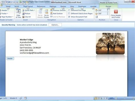 Create A Letterhead Template In Microsoft Word Cnet Creating Word Templates