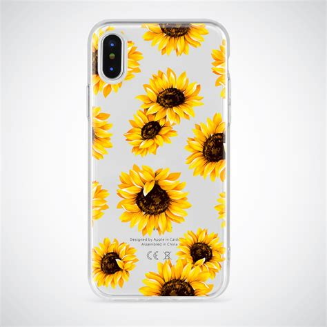 Iphone 5 5s Sun Flower sunflower clear soft for iphone 5 5s se 6 6 plus 7 8