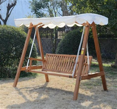 garden swing bench wood outsunny 3 seater wooden garden swing chair seat bench