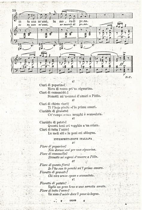 testo sciuri sciuri sicilia musica folk canti siciliani testi ciuri ciuri