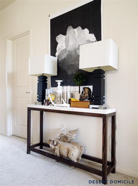 Long Skinny Console Table Diy Une Console Pour L Entr 233 E 224 Moins De 20 Paperblog