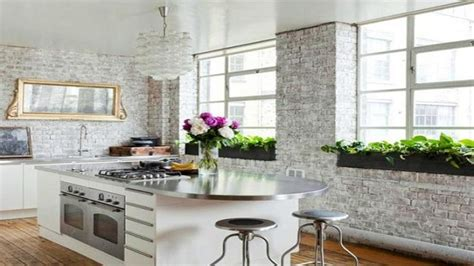 kitchen wallpaper 15 ideas for any interior buying wallpaper design for home interiors brick interior wall