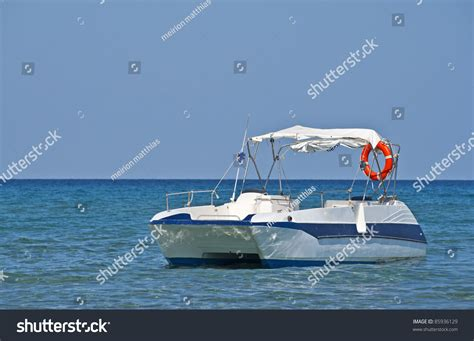 speedboot catamaran twin hull or catamaran style speedboat or ski boat on the