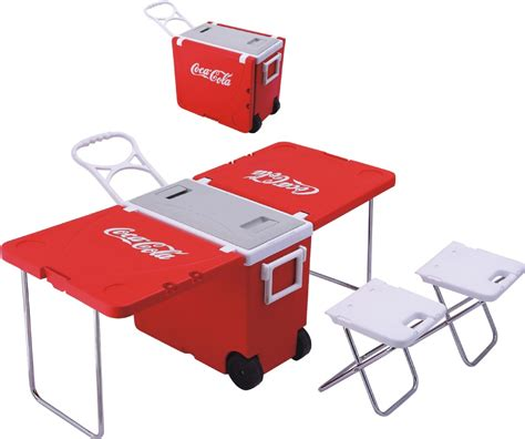 cooler table foldable cooler box table multifunctional table cooler box portable plastic cooler box with