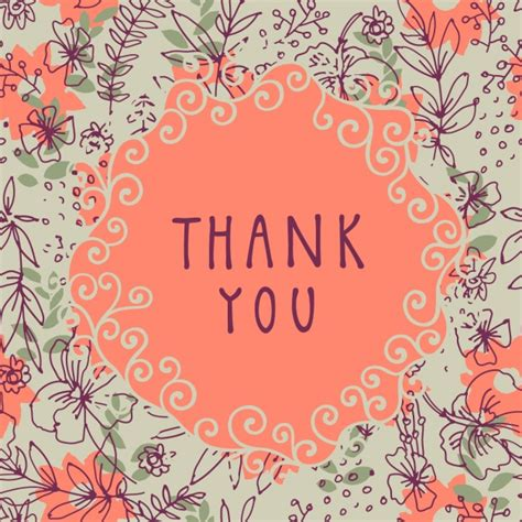 background thank you floral thank you background vector free download