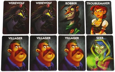 one night werewolf printable cards social deduction games boardgamegeek