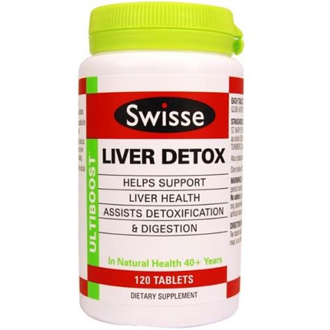 Detox Tablets by Swisse Liver Detox 120 Tablets Ashop New Zealand