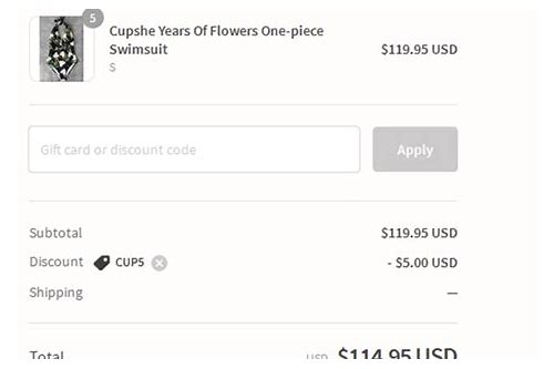 cupshe coupons codes