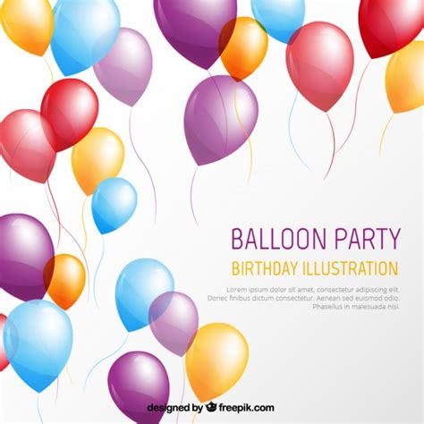 balloon card template balloon template vector free