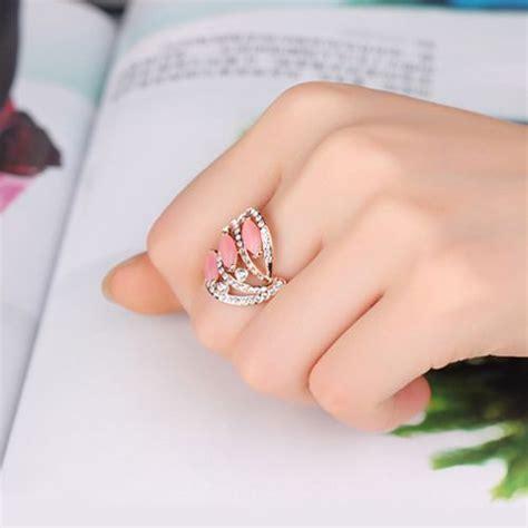 Cincin Lapis Emas Putih Batu Pink Rangka Tebal Bentuk Br212p batu akik tak selamanya norak 8 desain cincin ini