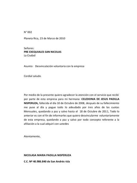 Carta De Empleo Estilo Bloque ejemplo de carta estilo bloque extremo yulys