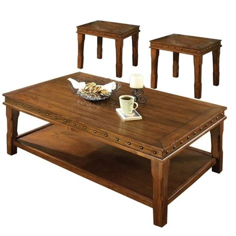 Steve Silver Coffee Table Sets Steve Silver Company Odessa Coffee Table And End Table Set In Chestnut Da2500