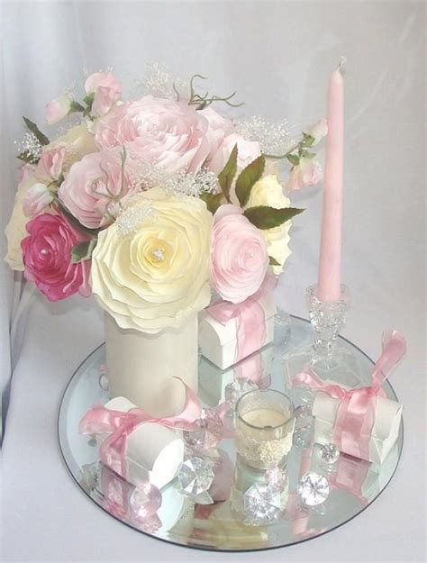 floral decor wedding decor pink bridal decor wedding