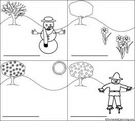 seasons months colouring pages