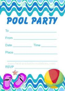 pool invitation free printable invites from www best printable invitations