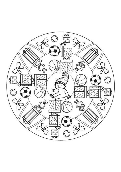 Mandala regalo: dibujo para colorear e imprimir