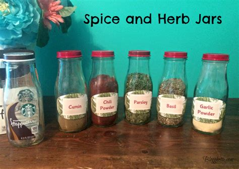 Herb And Spice Jars 20 Projects To Re Purpose Starbucks Bottles