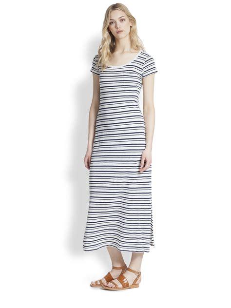 lyst splendid striped t shirt maxi dress in blue