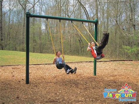 commercial swing sets 1 bay commercial grade single post swing