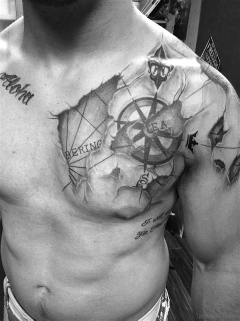cool chest tattoo designs 38 stylish map tattoos on chest