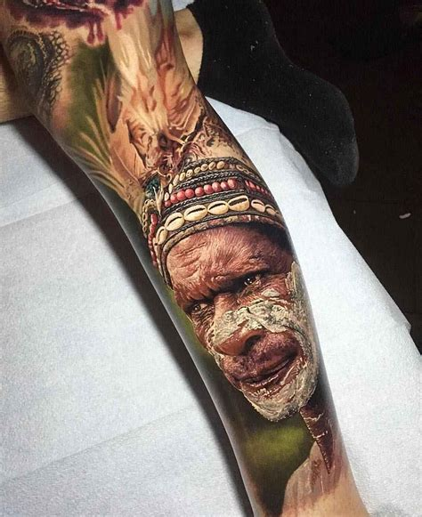 photorealistic tattoo photorealism of steve butcher