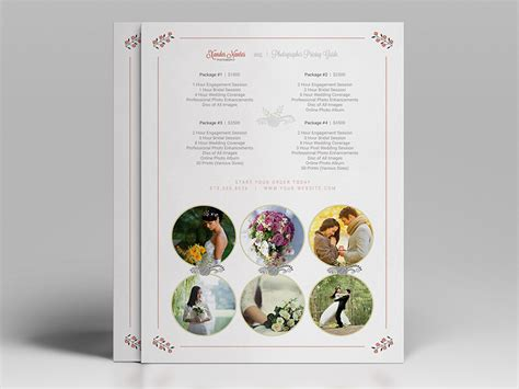 photoshop template list wedding photographer pricing guide price sheet list 5x7