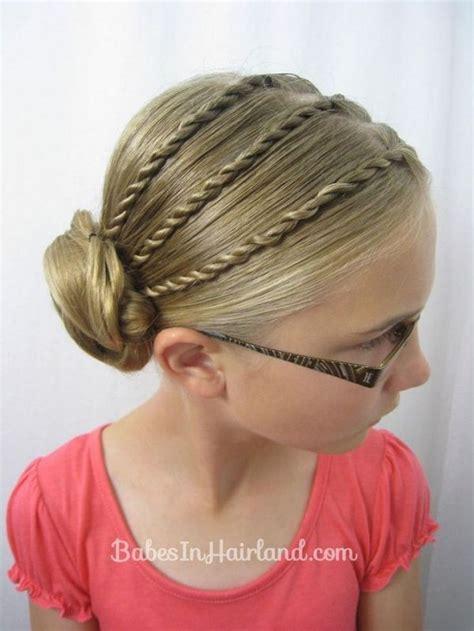 cool braided updo  girls   school hair ideas