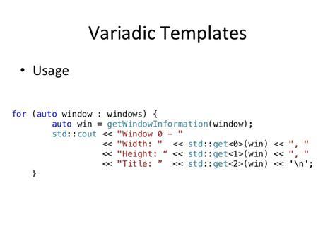 variadic templates milot shala c oscal2014
