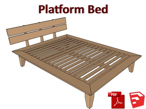 platform bed plans combo   sketchup matts