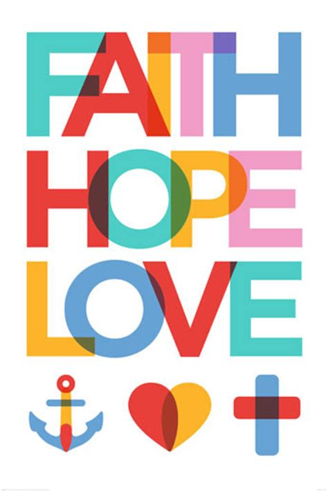 Gifts For Mom by Faith Hope Love Poster Sold At Europosters