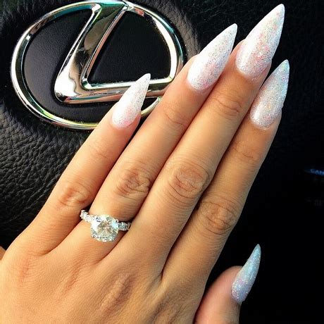 sparkly pointy nails