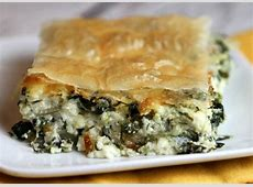 Greek Spinach Pie - Recipe Girl Meat Spinach Cheese Pastry