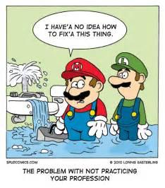 pics photos funny mario plumber job toilet
