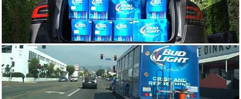 bud light truck driver salary tesla driver fits 1 920 cans of bud light in model x runs