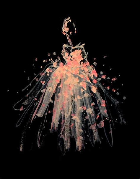 fashion illustration on black paper illustration by rodgers of paper fashion picmia