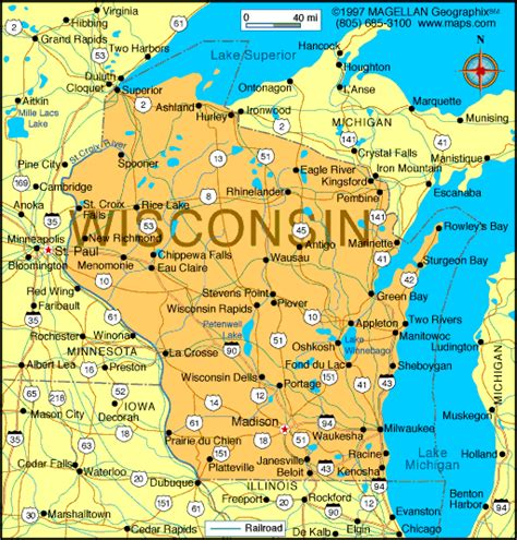 wisconsin state map atlas wisconsin