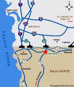 tecate mexico map tecate baja california mexico