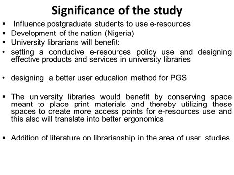 How To Make Significance Of The Study In Research Paper - user education computer literacy and ict accessibility as