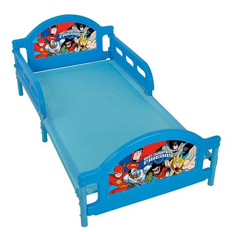 batman toddler bed dc comics super friends toddler bed batman superman new ebay
