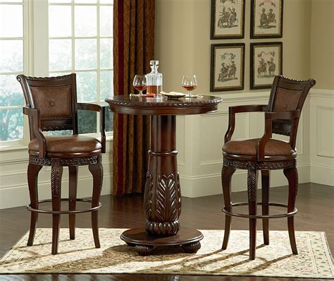 small pub style table and chairs pub table and chairs marceladick com