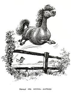 Kclers Ponny 112 1962 thelwell print jumping