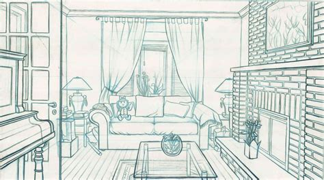 draw room room line drawing 1 by paraguaydraw on deviantart